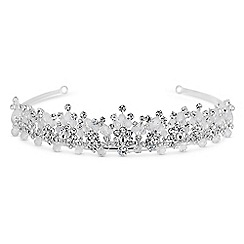 Jon Richard - Silver bead cluster statement tiara