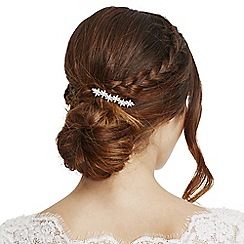 Alan Hannah Devoted - Rose gold crystal flower hair clip