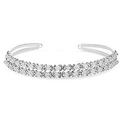 Jon Richard - Silver crystal and bead headband