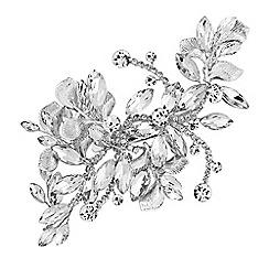 Jon Richard - Silver crystal navette spray hair clip