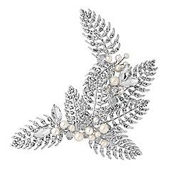Alan Hannah Devoted - Designer silver autumn leaf hair comb