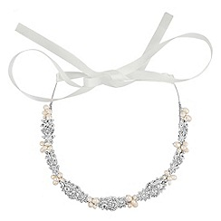Alan Hannah Devoted - Designer freshwater pearl and crystal hair ribbon
