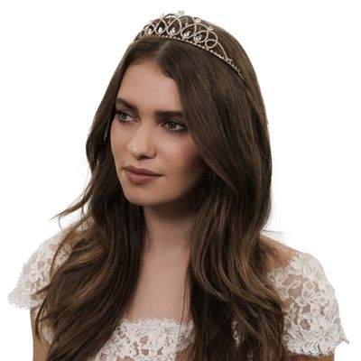 jon richard crystal beaded statement tiara