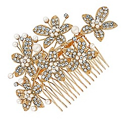 Jon Richard - Pearl flower hair comb