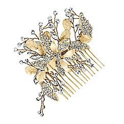 Jon Richard - Floral leaf spray hair comb