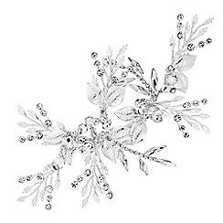 Jon Richard - Crystal leaf spray hair clip
