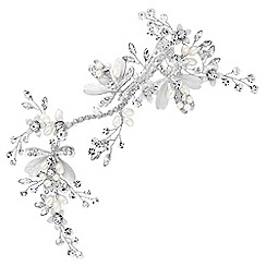 Alan Hannah Devoted - Leaf and crystal bead hair clip