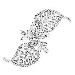 Jon Richard - Crystal leaf twist hair clip