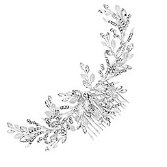 Jon Richard - Crystal beaded wreath comb