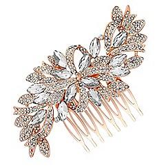 Jon Richard - Crystal ribbon swirl hair comb