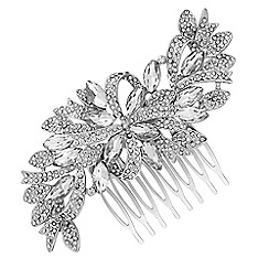 Jon Richard - Crystal ribbon swirl hair comb