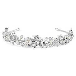 Alan Hannah Devoted - Magnolia freshwater pearl and crystal headband