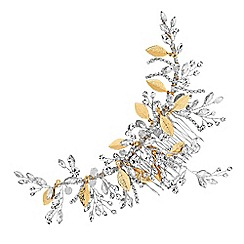 No. 1 Jenny Packham - Silver and gold crystal spray hair comb
