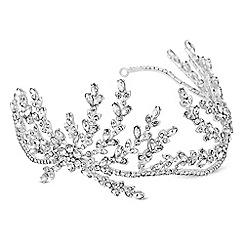 Alan Hannah Devoted - Designer silver crystal spray statement hair piece