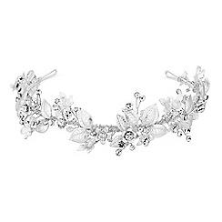 Alan Hannah Devoted - Designer crystal floral leaf headband