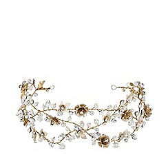 Jon Richard - Gold Plated Clear Crystal Floral Hair Vine