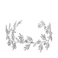Jon Richard - Silver plated clear crystal navette vine hair