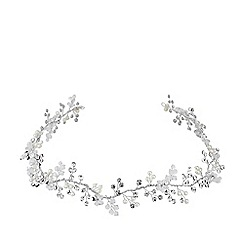 Jon Richard - Silver Plated Clear Statement Lydia Pearl And Crystal Hair Vine