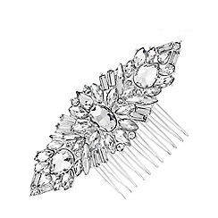 Jon Richard - Silver Plated Clear Crystal Jennifer Hair Comb