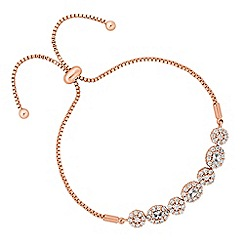 Jon Richard - Rose gold floral toggle bracelet