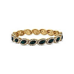 Jon Richard - Green crystal navette bracelet