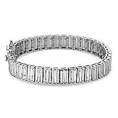 Jon Richard - Silver cubic zirconia baguette bracelet