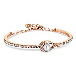 Jon Richard - Rose gold peardrop pearl bracelet