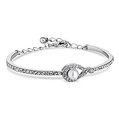 Jon Richard - Silver peardrop pearl bracelet