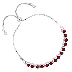 Jon Richard - Red crystal toggle bracelet