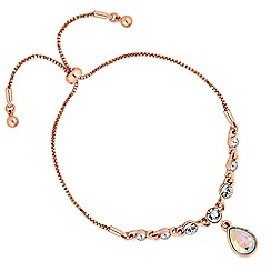 Jon Richard - Crystal charm toggle bracelet made with Swarovski crystals