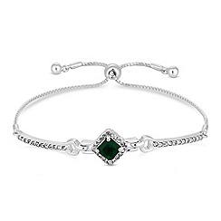 Jon Richard - Green crystal square toggle bracelet