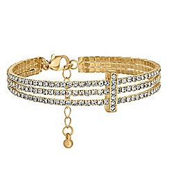 Jon Richard - Diamante triple row bracelet