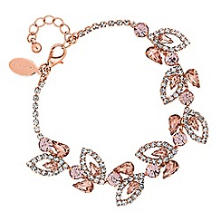 Jon Richard - Blush pink crystal floral bracelet