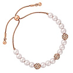 Jon Richard - Pearl and pave ball toggle bracelet