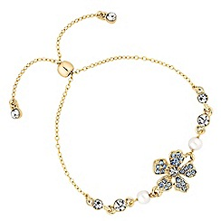 Alan Hannah Devoted - Designer flower and pearl toggle bracelet