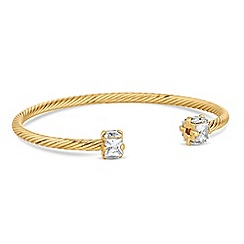 Jon Richard - Cubic zirconia textured bangle