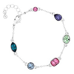 Jon Richard - Multi colour bracelet created with swarovski crystals