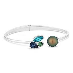 Jon Richard - Pearl and crystal bangle created with Swarovski crystals