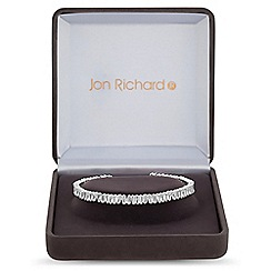 Jon Richard - Cubic zirconia cluster cuff in a gift box