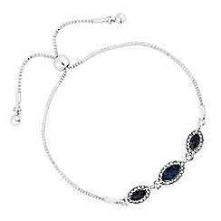 Jon Richard - Crystal navette toggle bracelet