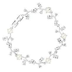 Alan Hannah Devoted - Vine pearl cubic zirconia bracelet