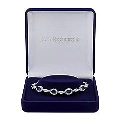 Jon Richard - Cubic zirconia pear and leaf bracelet