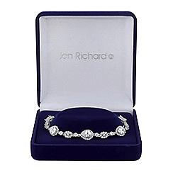 Jon Richard - Cubic zirconia peardrop bracelet in a gift box