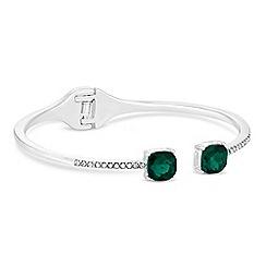 Jon Richard - Green crystal delicate bangle