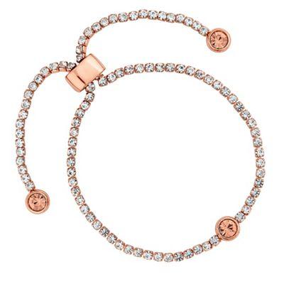 Jon Richard   Diamante Toggle Bracelet by Jon Richard