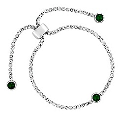 Jon Richard - Diamante toggle bracelet