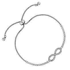 Jon Richard - Crystal infinity toggle bracelet