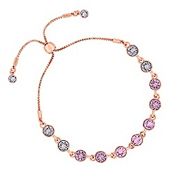 Jon Richard - Ombre blush rose toggle bracelet created with Swarovski crystals
