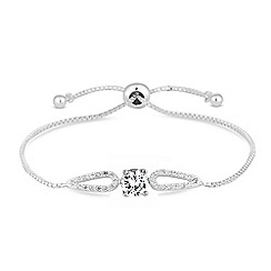 Jon Richard - Cubic zirconia halo toggle bracelet
