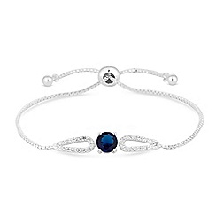 Jon Richard - Cubic zirconia halo toggle bracelet